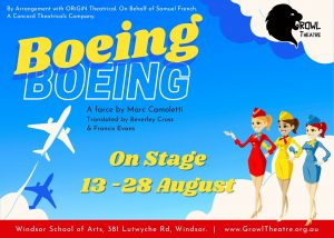 Boeing Boeing (Growl Theatre) @ Windsor School of Arts